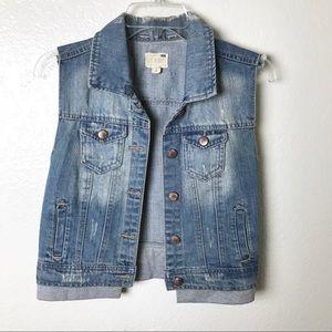 PacSun Jackets & Coats - PAC Sun LA Hearts Jean Vest